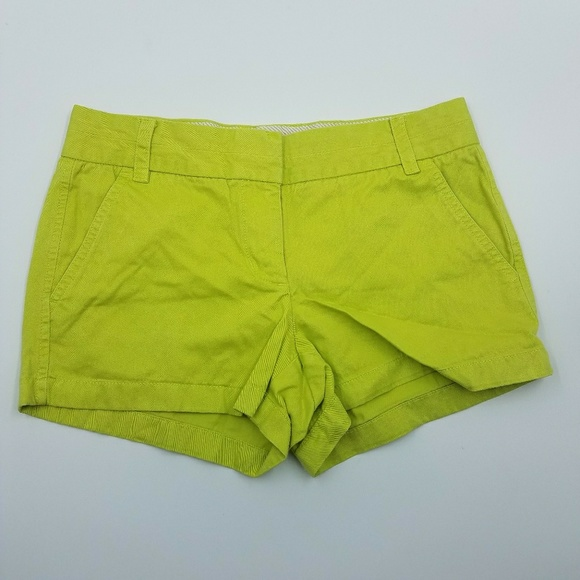 J. Crew Pants - J. Crew Lime Green Chino Shorts